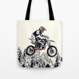 """""""High Flyer"""" Motocross Racer Tote Bag"""