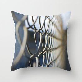 Fanciful Fence Throw Pillow