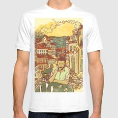 Lisbon MEDIUM White Mens Fitted Tee