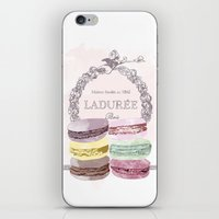 macaroon iPhone & iPod Skins featuring French Macaroon, Kitchen Art, Pastel by PeachAndGold