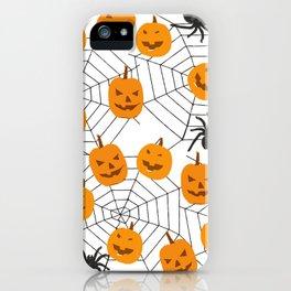 Halloween Pattern Spider Pumpkin iPhone Case