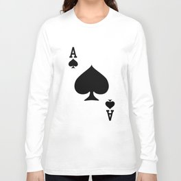 Ace of Spades Playing Card Halloween Costume Game t-shirts Long Sleeve T-shirt