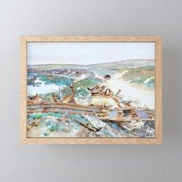 John Singer Sargent - A Wrecked Tank - Digital Remastered Edition Framed Mini Art Print