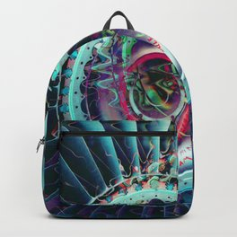 Jet Engine Geometric Abstract Backpack