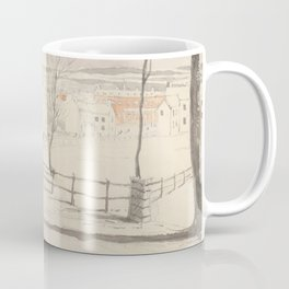 Vintage Montpelier Vermont Watercolor Painting (1841) Coffee Mug