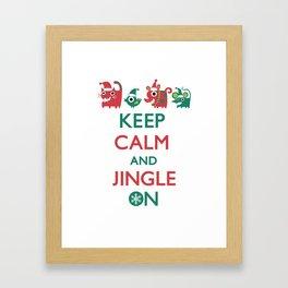 Keep Calm and Jingle On Framed Art Print