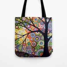 Abstract Landscape Original Painting...VISIONS OF NIGHT, by Amy Giacomelli Tote Bag