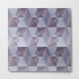 Shiny silver metal embossed surface Metal Print