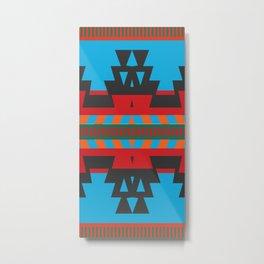 American Native Pattern No. 81 Metal Print