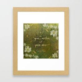 I am your master and you're mine. - Jamie Fraser Framed Art Print