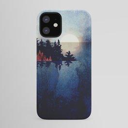 Autumn Moon Reflection iPhone Case