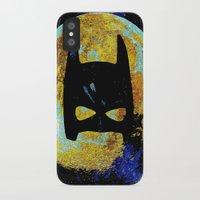 bat iPhone & iPod Cases featuring BAT by Saundra Myles