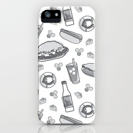 Skyline Chili Pattern Gray iPhone Case