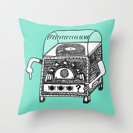 hungry jukebox Throw Pillow
