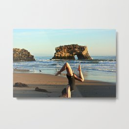 Upside down at Natural Bridges Metal Print