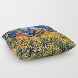 rebarbative pacification Floor Pillow