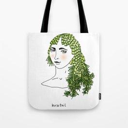 horsetail girl Tote Bag