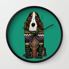 Basset Hound jade Wall Clock