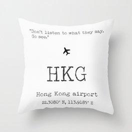 HKG airport Throw Pillow