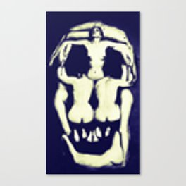 Pixel Dalì's skull Canvas Print