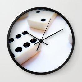 Dominoes Pattern #6 Wall Clock