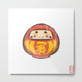 Daruma [Special Lucky Toy Box] Metal Print