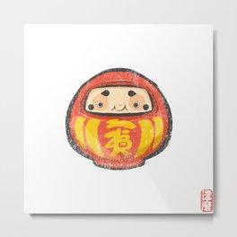 Daruma [Special Lucky Toy Box] Metal Print