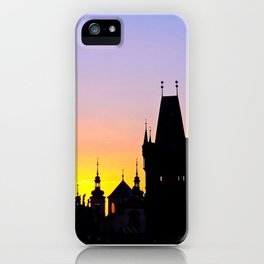 Sunrise at Karluv Most, Prague iPhone Case