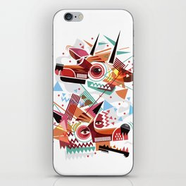 Deer and wolf iPhone Skin