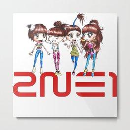 2ne1 Kpop Metal Print