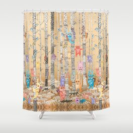 Cute Monsters Shower Curtain