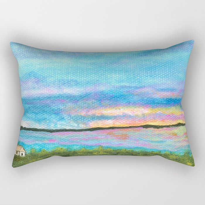 Good Morning, Beach House Sunrise Rectangular Pillow