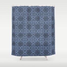 Serenity Star Flower Shower Curtain