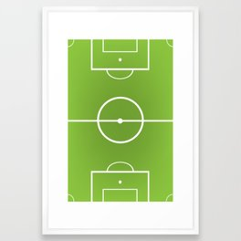 soccer field Framed Art Print