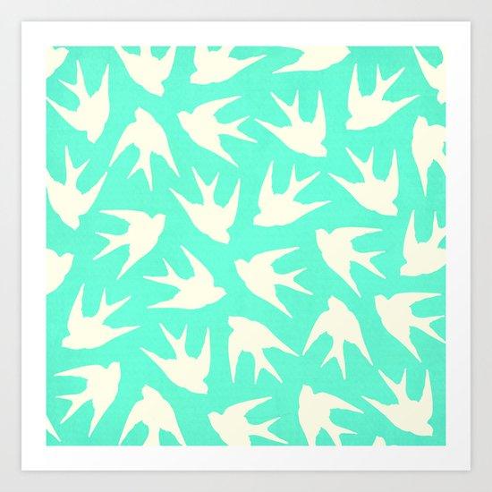 Birds (Mint) Art Print