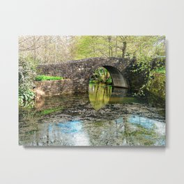 Stone Bridge and Still Water. Metal Print