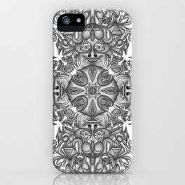 black, white and gray  iPhone Case