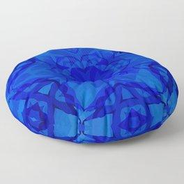 Blue kaleidoscope 2 Floor Pillow