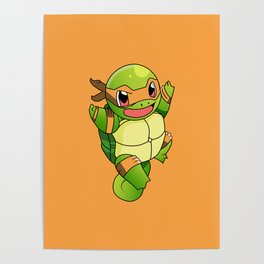 TMNT_POKET_MONSTER_orange Poster