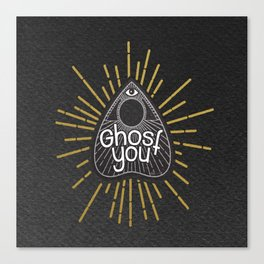 Ghost you (Black ver) Canvas Print