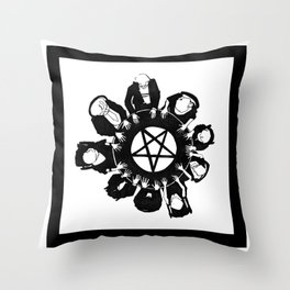 The night they summoned the demon R.H.L. Throw Pillow