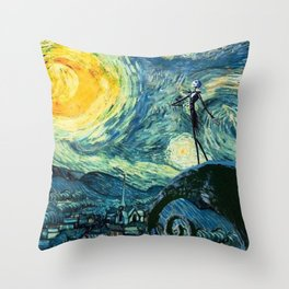 Beautiful Night Before Christmas Throw Pillow