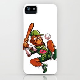 Baseball Monkey - Limerick iPhone Case