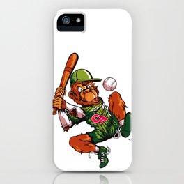Baseball Monkey - Limerick iPhone Case