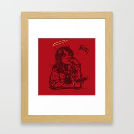Blah Framed Art Print