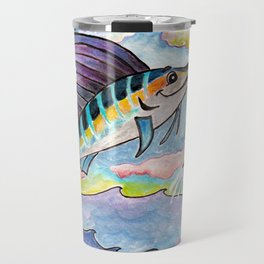 M is for Marlin Travel Mug