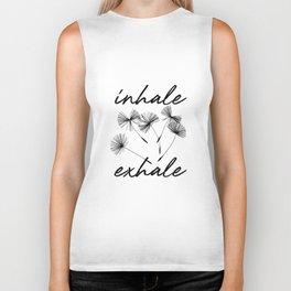 Inhale-exhale Biker Tank