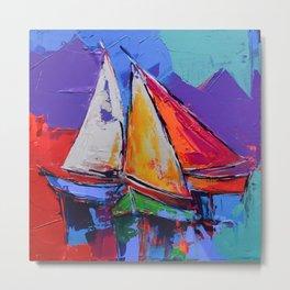 Sails Colors Metal Print