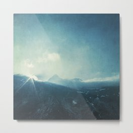 LightFall - Sunrise over the Italian Alps Metal Print