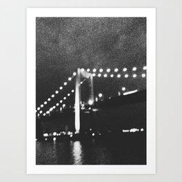 Manhattan Bridge At Night Art Print